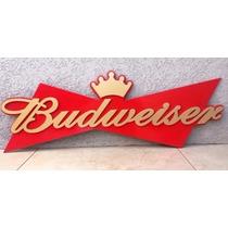 Placa Decorativa Budweiser Em Mdf