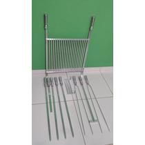 Kit Churrasco Alumínio Premium - Grelha 50 X 46 Cm