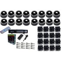 Kit Com 16 Minicâmeras, Ccd Sony 1/3, 480 L Day & Night