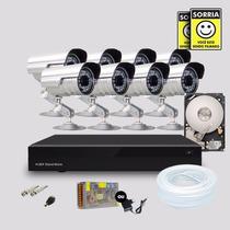 Kit 8 Cameras Segurança Infravermelho Dvr Stand Alone Hd 1tb