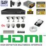 Kit 4 Cameras Completo Cftv Sony Dvr 4 Canais D1 Hd Cabo 3g
