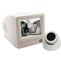 Kit Vigilancia Monitoramento Branco Monitor Cabo Câmera Cftv