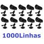10 Cameras Cftv Preta Infravermelho Ccd Daynight 1000 Linhas
