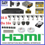 Kit 16 Cameras Completo Cftv Sony Dvr 16 Canais Hd 1tb Cabo