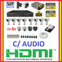 Kit 8 Cameras Ccd Sony Completo Dvr 16 Canais D1 Hd 1tb Cabo