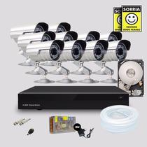 Kit Segurança Dvr Stand Alone 16 Canais 1 Hd 10 Câmera Infra