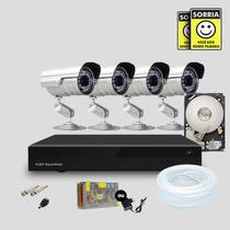Kit Segurança Dvr Stand Alone 8 Canais + 1 Hd 4 Câmera Infra