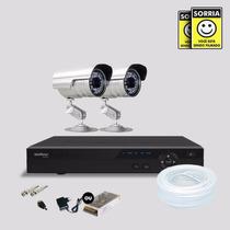 Kit Segurança Dvr Stand Alone 4 Canais Intelbras C/2 Cameras