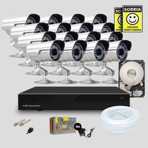 Kit Segurança Dvr Stand Alone 32 Canais 1 Hd 16 Câmera Infra