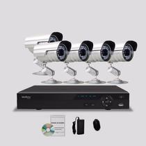 Kit Segurança Dvr Stand Alone Intelbras 8 Canais 5 Câmera