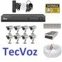 Kit Cftv 8 Cameras Infra , Dvr Stand Alone 8 Canais Tecvoz