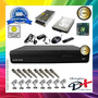 Kit 8 Cameras Infra Sony / Dvr 8 Canais / Hd 500gb Completo