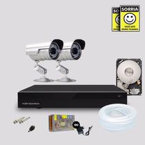 Kit Segurança Dvr Stand Alone 4 Canais + 1 Hd 2 Câmera Infra