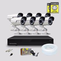 Kit 8 Cameras De Segurança Infravermelho Com Dvr Stand Alone