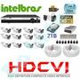Kit Cftv Hdcvi 12 Cameras 720p Hd Ir+dvr 16 Canais Intelbras