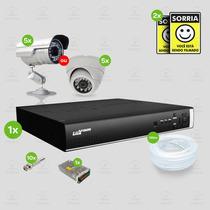 Kit Segurança Dvr Stand Alone 8 Canais Luxvision C/5 Cameras