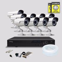 Kit Segurança Dvr Stand Alone 16 Canais Intelbras 9 Cameras