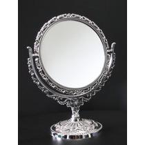 Espelho Colonial 15 Cm Redondo Cromado Dupla Face Aumento