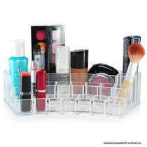 Porta Maquiagem 15 Batom Acrílico Organizador Cosmético Curv