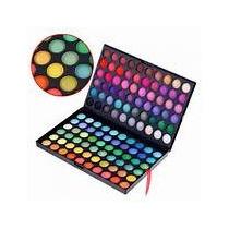 Paleta De Sombras 120 Cores Coloridas+gratis Lápis Olho Mac