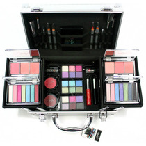 Maleta Kit De Maquiagem Jasmyne Com 58 Itens + Kit Pincel