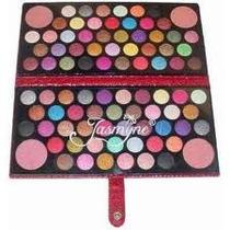 Maquiagem Paleta Jasmyne 3d 84 Sombras 4 Blush V952 + Pincel