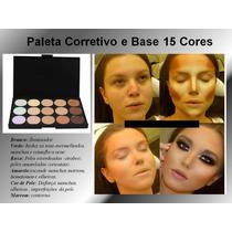 Paleta Corretivo E Base 15 Cores Estojo Kit Maquiagem