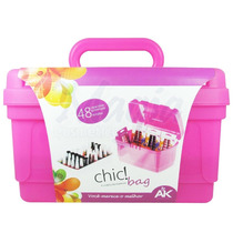 Maleta Manicure Chic Bag Rosa Para Esmaltes E Acessórios
