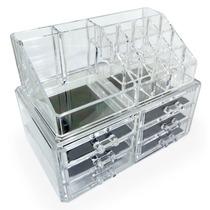 Caixa Organizadora Cosméticos Porta Jóias Acrílico Pl10010