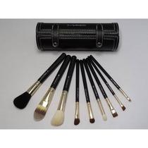 Kit Com 9 Pincéis +tubo/estojo Mac - Luxo - Pronta Entrega