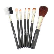 Kit Com 7 Pincéis Para Maquiagem E Bolsa Macrilan Kp1-3t