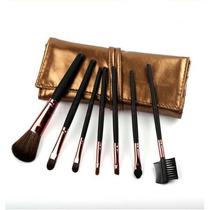 Maquiagem Kit Pincéis 7 Peças Importado Aline Modas Luxuosa
