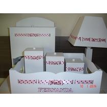 Promoção * Kits De Higiene 6 Peças Em Mdf * Branco