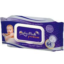 Lenços Umedecidos Premium C/64 Unidades Baby Bath