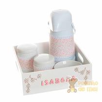 Kit Higiene Arabescos Nome Do Bebê Quarto Infantil Com Capa