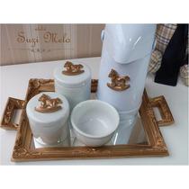 Kit Higiene Cavalinho De Balanço Porcelana