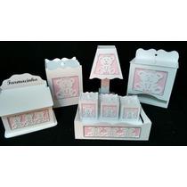 Kit Higiene Bebê Ursinha 3d 8 Peças