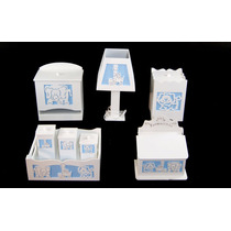 Kit Quarto Bebê Higiene Porta Treco Mdf Pintado Safari 3d
