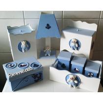 Kit Higiene Bebe Ursinho Azul Bebe 8 Peças * Náutico*