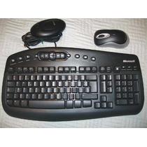 Teclado + Mouse Sem Fio Original Microsoft Desktop 2000