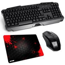 Kit Gamer Sem Fio Teclado + Mouse Multilaser 2.4ghz Wireless