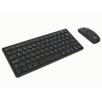 Teclado E Mouse Sem Fio Slim 2.4ghz Multilaser Preto Tc158