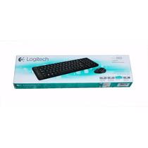 Kit Teclado E Mouse Wireless Logitech Mk220 Preto Sem Fio