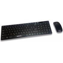 Kit Teclado + Mouse Sem Fio Slim Wireless Alcance 10 Metros