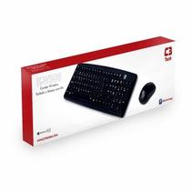 Kit Teclado E Mouse Sem Fio C3 Tech K-w500 Bk