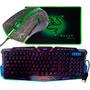 Kit Teclado Gamer+ Mouse Led 3200dpi+ Mouse Pad Razer Mantis