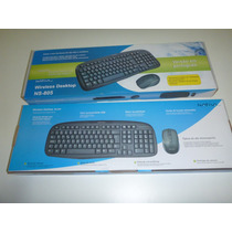 Kit Teclado/mouse Wireless Microsoft Desktop S/fio Nativa