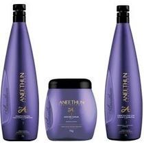 Linha A Shampoo + Condicionador 1l + Máscara 1kg Aneethun