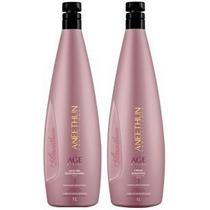 Kit Shampoo + Máscara Age System Litro Aneethun Profissional