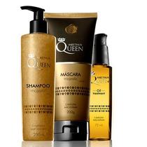 Kit Majestic Queen Shampoo + Máscara + Óleo Reparad Aneethun